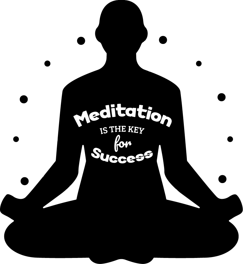 TenStickers. Text Meditation text sticker. Place the incredibly wise words that meditation is key for success in your home with this meditation wall sticker. Choose from over 50 colours!