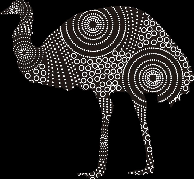 TenStickers. Naklejka na ścianę inne zwierzęta struś emu. Naklejka na ścianę przedstawia dostojnego strusia emu, oryginalna dekoracja do wnętrza Twojego domu, która nada Twojemu domu nowego charakteru!