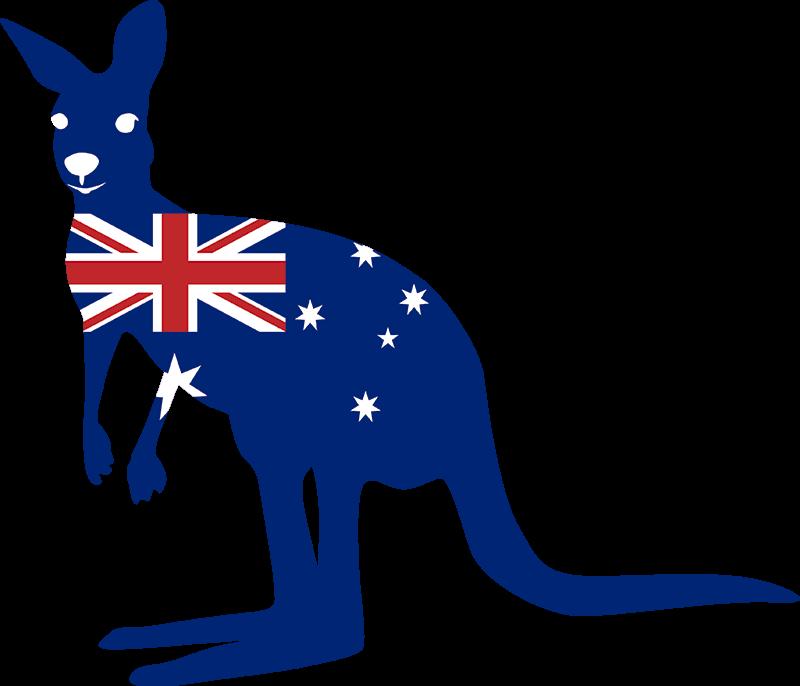 TenStickers. 캥거루와 깃발 스티커. 이 환상적인 국가 테마 동물 깃발 스티커와 함께 호주의 마술에 경의를 표하십시오! 3. 95 달러의 스티커.