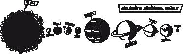 TenVinilo. Vinilo infantil sistema solar. Tienes la misión espacial de conocer todo nuestro sistema planetario en el que se encuentra la Tierra. Orbita alrededor de estos planetas con este educativo Adhesivo infantil.