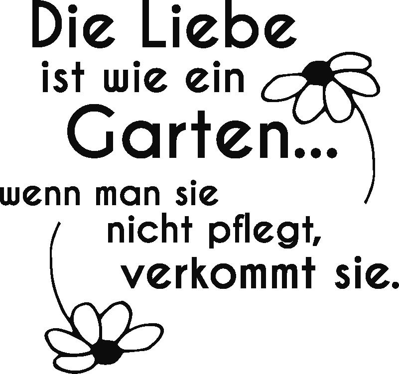 Aufkleber Valentinstag Liebe Ist Wie Ein Garten