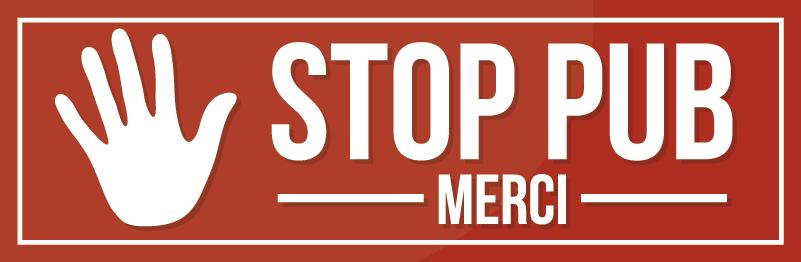 TenStickers. Sticker Maison Etiquette stop pub. Vous en avez marre de ces publicités sans queue ni tête qui font déborder votre boîte aux lettres ? Laissez-vous tenter par ce sticker anti-pub !