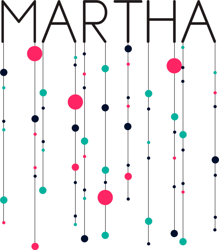 TenStickers. Sticker Maison Motifs Cercles. Sticker mural géométrique chambre d'enfant, motifs cerles et texte personnalisable. Adhésif chambre d'enfant original et ornemental.
