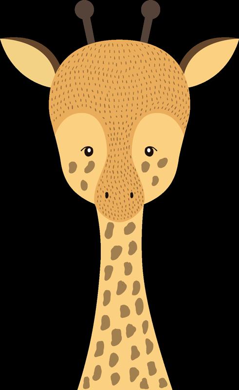 TenVinilo. Vinilo habitación infantil Dibujo Jirafa bebé. Original pegatina adhesiva para habitación infantil formada por la ilustración de un tierna jirafa bebé. +10.000 Opiniones satisfactorias.