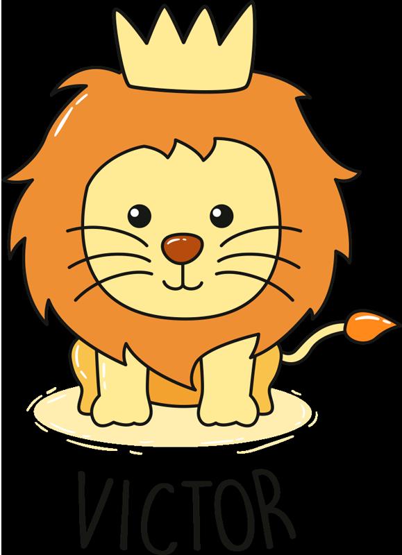 Sticker Chambre Enfant Bébé Lion Dessin Tenstickers