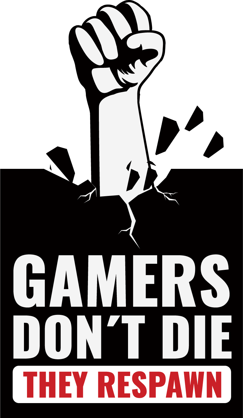 "TenStickers. Muurstickers tekst gamers text. ""Gamer's don't die, they respawn!"" Een leuke gamers text muursticker! Onze text muurstickers zijn daar helemaal geschikt voor! Keuze uit 50+ kleuren."