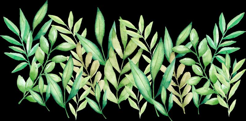 TenStickers. 卧室绿叶床头板墙贴. 这款看上去自然绿叶的床头板墙贴将一些生活带回到您的卧室。从多种尺寸中选择!