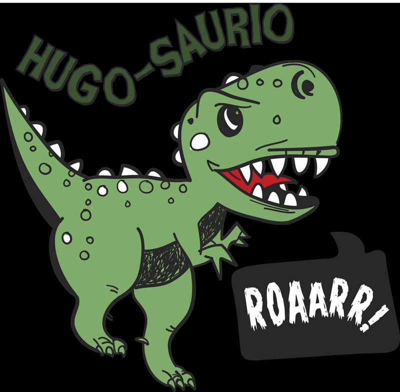 TenVinilo. Vinilo habitación infantil dinosaurio con nombre saurus. Pegatina adhesiva personalizable para habitación infantil con el diseño de un fantástico dinosaurio. Descuentos para nuevos usuarios.