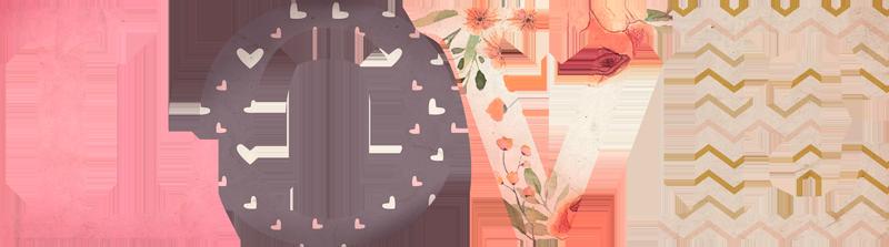 """TenVinilo. Sticker de amor love texturas rosas. Pegatina infantil formada por la palabra """"Love"""" en tonos cálidos y utilizando una textura diferente para cada letra. +10.000 Opiniones satisfactorias."""