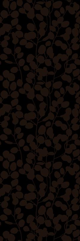 TENSTICKERS. ユーカリシルエットシャワーステッカー. 半透明の形で設計された装飾的な植物シルエットシャワースクリーンデカール。さまざまな色と必要なサイズでご利用いただけます。