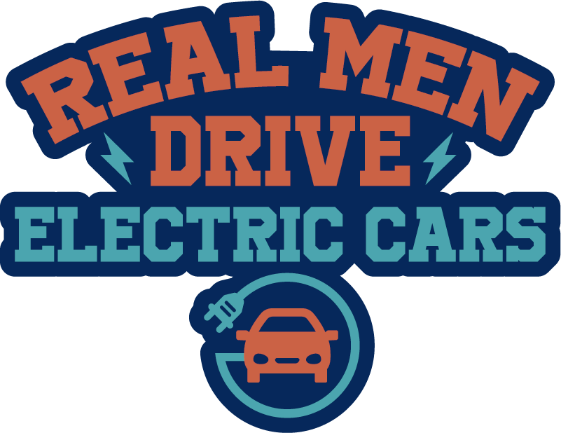 TENSTICKERS. 本物の男性が電気自動車を運転する車のステッカー. この素晴らしい車のステッカーで電気自動車の運転を促進し、「本物の男性が電気自動車を運転する!」除去時に残留物がありません。