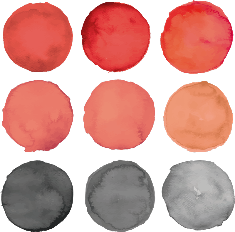 TenStickers. gray circles and pantone coral texture wall sticker. Colorful decorative circles coral wall decal . A nice home decoration with good quality. Available in any required size and easy to apply