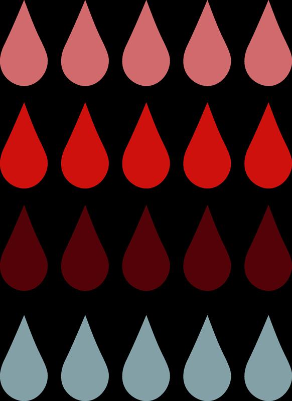 TenVinilo. Vinilo pared gotas living coral. Pegatina adhesiva para habitación infantil formada por un patrón de veinte gotas de lluvia en diferentes colores. Descuentos para nuevos usuarios.