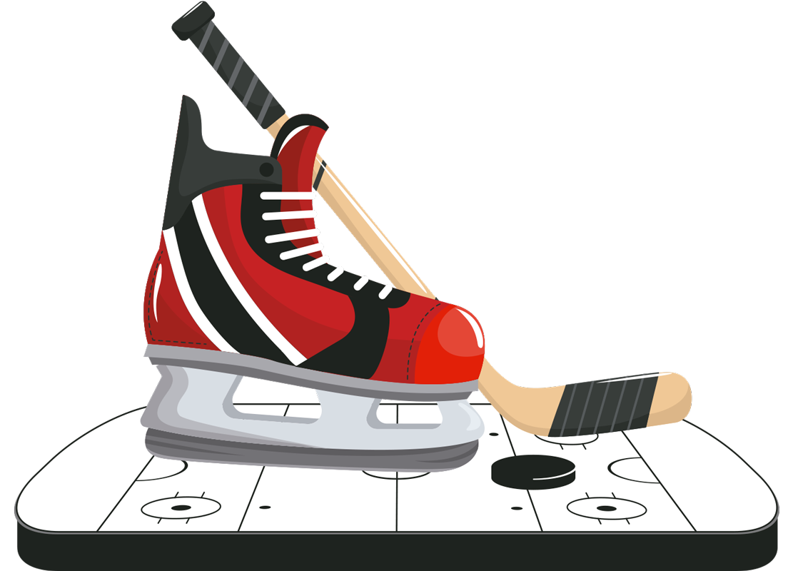 TenStickers. Hockey Skates Home Wall Sticker. Pay tribute to the wonderful sport of hockey with this fantastic wall sports sticker, depicting a hockey skate, stick and puck! Sign up for 10% off.