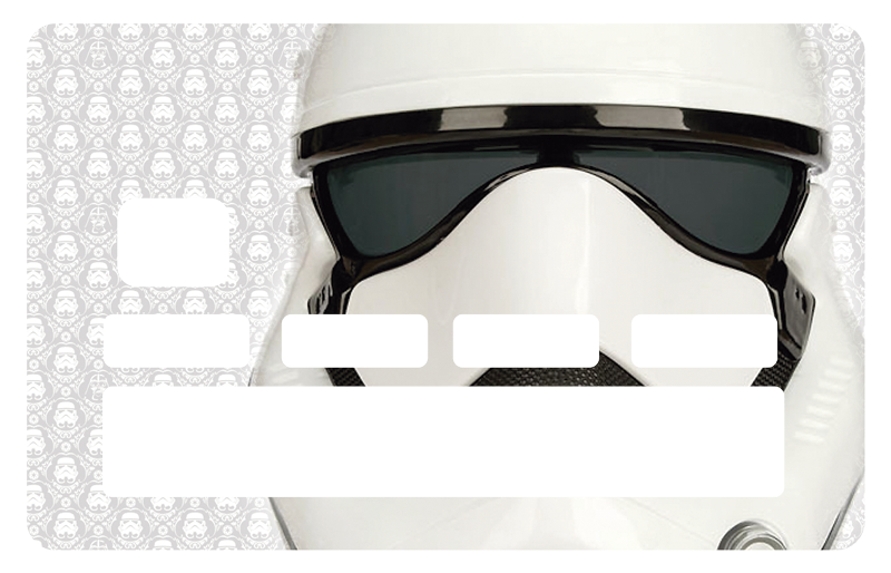 TenStickers. Storm Trooper Credit Card Sticker. Add a touch of fun to your credit card with this stunning Star Wars - Stormtrooper themed credit card sticker! Sign up for 10% off.