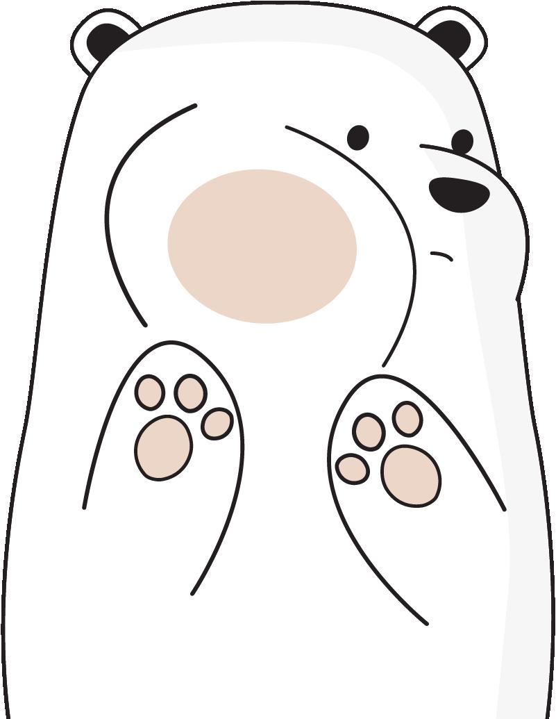 Raamstickers witte ijsbeer
