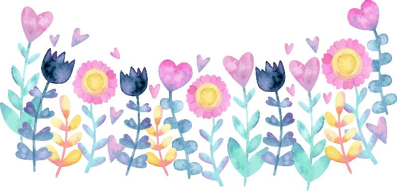 TenStickers. Muurstickers bloemen tulpen en zonnebloemen. Unieke bloemen muurstickers: muurstickers zonnebloemen en muurstickers tulpen, mooie gekleurde bloemen! bloemen muurstickers zijn unieke stickers!