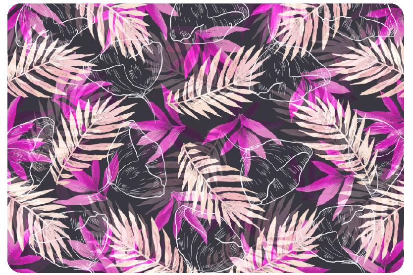 TenVinilo. Vinilo para ordenador de plantas color lila y rosa. Vinilo de plantas coloridas para portátiles: vinilo moderno y alegre para portátiles y vinilo decorativo de color púrpura para más diversión.