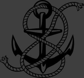 TenStickers. 锚墙贴. 我们收集的海壁贴纸中的单色锚设计。你喜欢海上生活吗?你在航行吗?