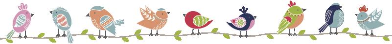 TenStickers. Bunter vogel wandaufkleber. Wandaufkleber vogel, ein fröhliches und lustiges wandaufkleber kinderzimmer oder wandsticker babyzimmer und komplett! Vogel wandaufkleber, in allen größen erhältlich!
