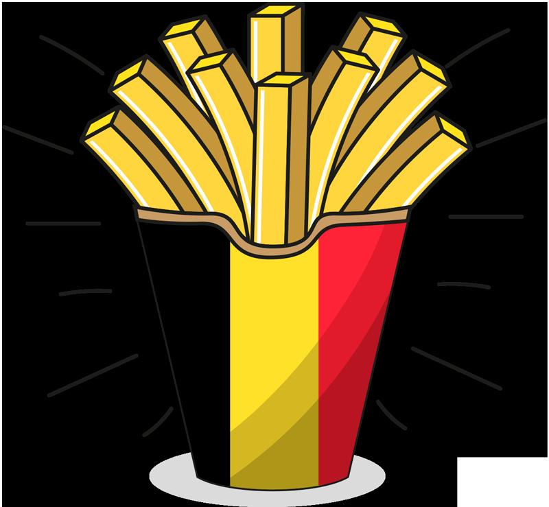 TenStickers. Sticker Maison Frites Belges. Vous aimez la Belgique ? Vous adorez les frites ? Cet autocollant alimentationde frites belges a été désigné pour vous !