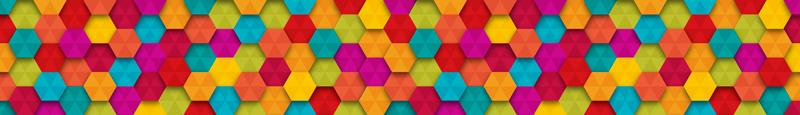 TenStickers. Sticker pour Carrelage Hexagones Multicolores. Pour un sticker géométrique original, rien de tel que cette frise murale adhésive incroyablement colorée, pour une déco pétillante