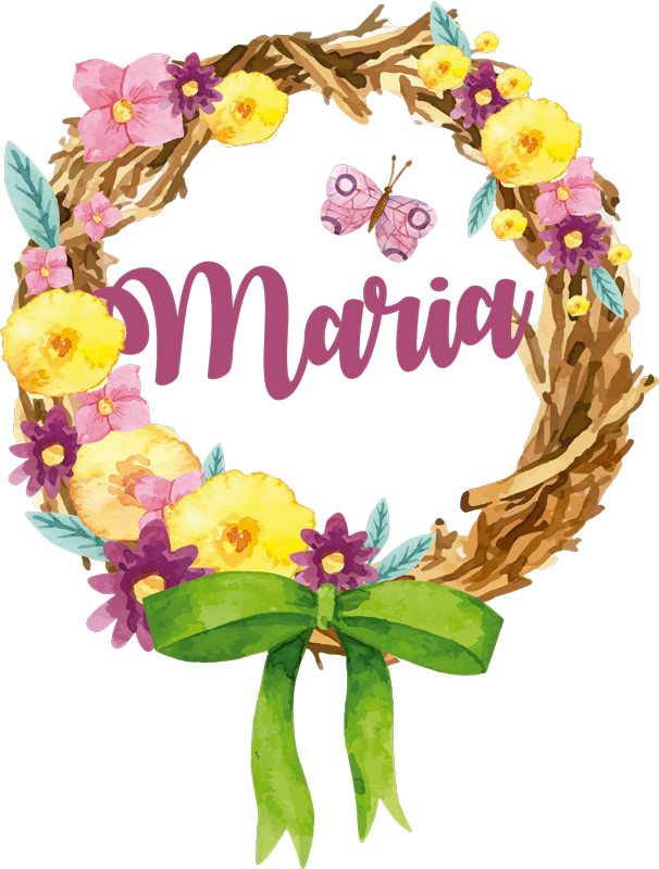 TenStickers. Spring Bouquet with Name Floral Wall Sticker. Add some flower themed decor to your home with this fantastically colourful customisable flower wall sticker! Extremely long-lasting material.