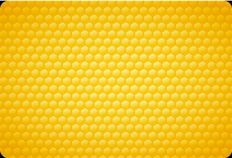 TenStickers. Autocolante decorativo para PC padrão de abelha. Autocolantes decorativos com padrões. Adesivos com padrões com texturas. Decore o seu computador com este maravilhoso sticker.