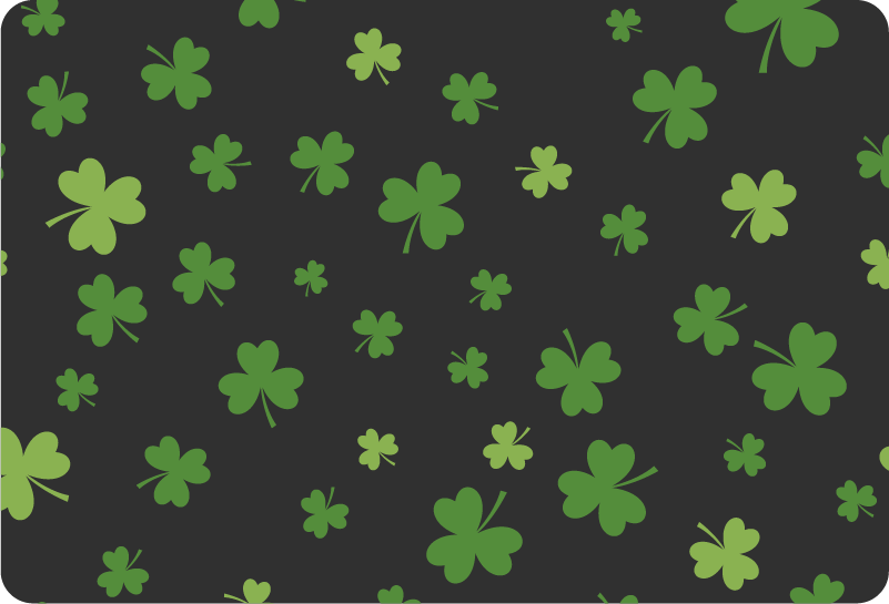 TenStickers. Clover Selection Laptop Sticker. Decorate your laptop with some St Patrick´s day themed laptop stickers, thanks to this collection of clovers! +10,000 satisfied customers.