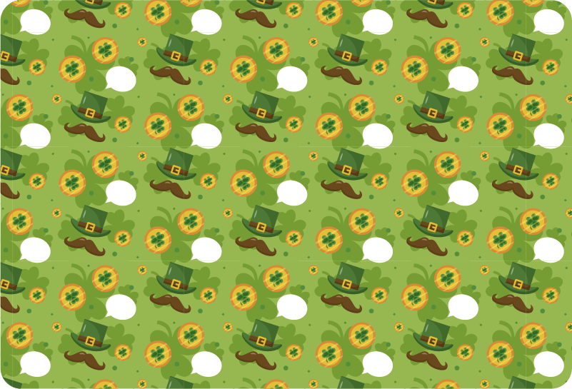 TenStickers. St Patrick´s Day Pattern Laptop Sticker. Decorate your laptop with this fantastic piece of seasonal decor, perfect for all those who wish to celebrate St Patrick´s Day!