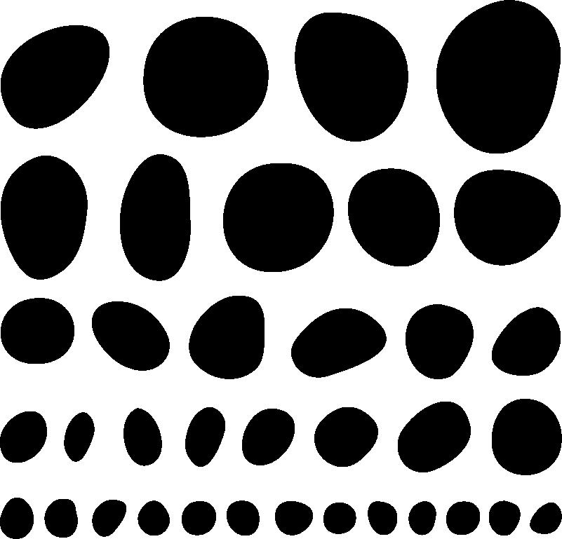TenVinilo. Vinilo pared círculos irregulares . Vinilo decorativo geométrico diseñado en un conjunto irregular de formas esféricas para decorar tu hogar de forma fácil ¡Envío a domicilio!