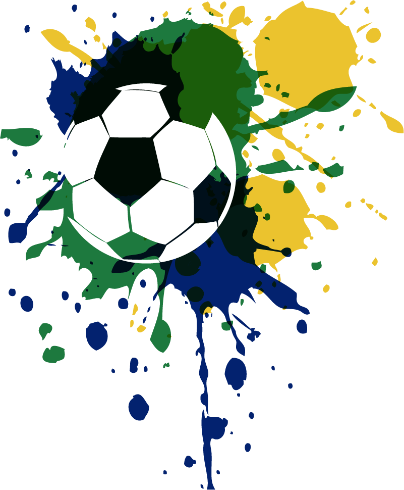 TenStickers. Paint Explosion Football Home Wall Sticker. Pay tribute to the magic of the beautiful Brazilian side with this fantastic wall art sticker, depicting a football! +10,000 satisfied customers.