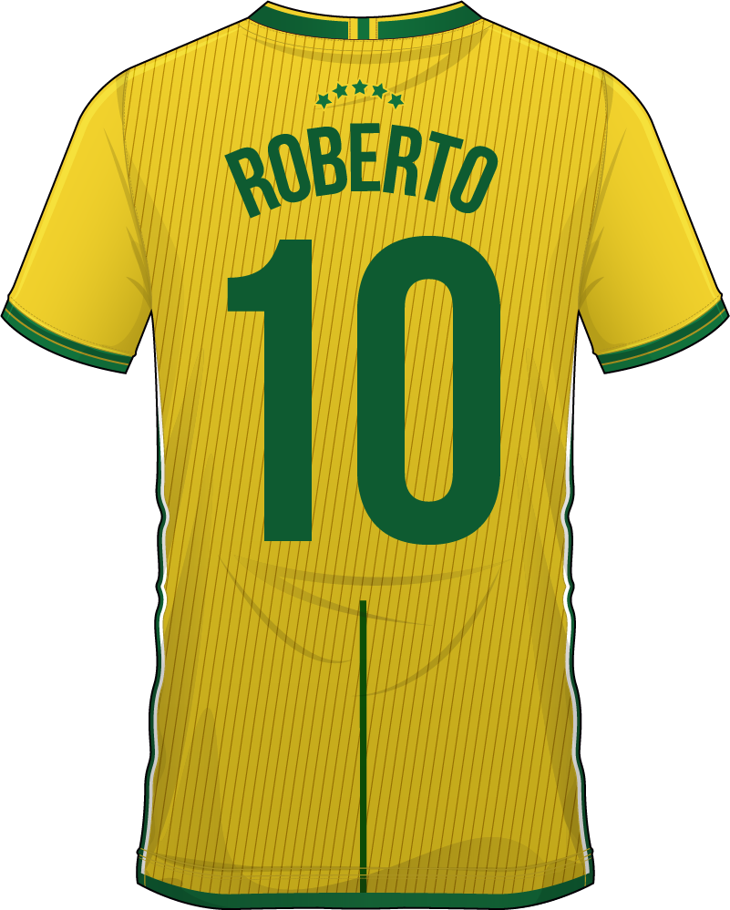 TenStickers. Brazil Shirt Customisable Sticker. Transform yourself into a Brazilian national footballer with this fantastic, customisable, sports sticker! Sign up for 10% off.