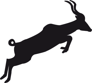 TenStickers. 瞪羚剪影黑板贴纸. 黑板贴;瞪羚的剪影插图。板岩贴纸设计非常适合装饰任何房间