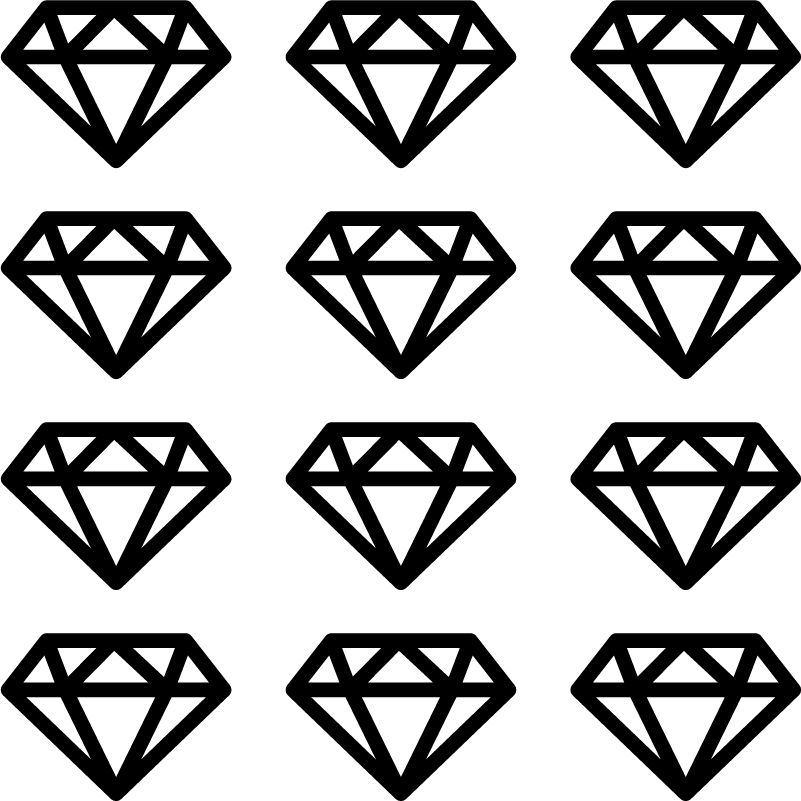 TenStickers. Diamond blade object wall decal. Decorative diamond blade wall art sticker for living room or bedroom space. Available in different colours and sizes. Easy to apply and self adhesive.