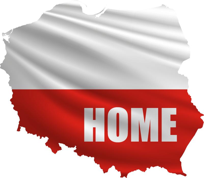 TenStickers. Naklejka na ścianę sylwetka Granice Polski Home. Mapa Polski naklejka na ścianę do salonu to wspaniały pomysł na dekoracje. Sprawdź naklejki do salonu w naszym katalogu. Codziennie nowe projekty!