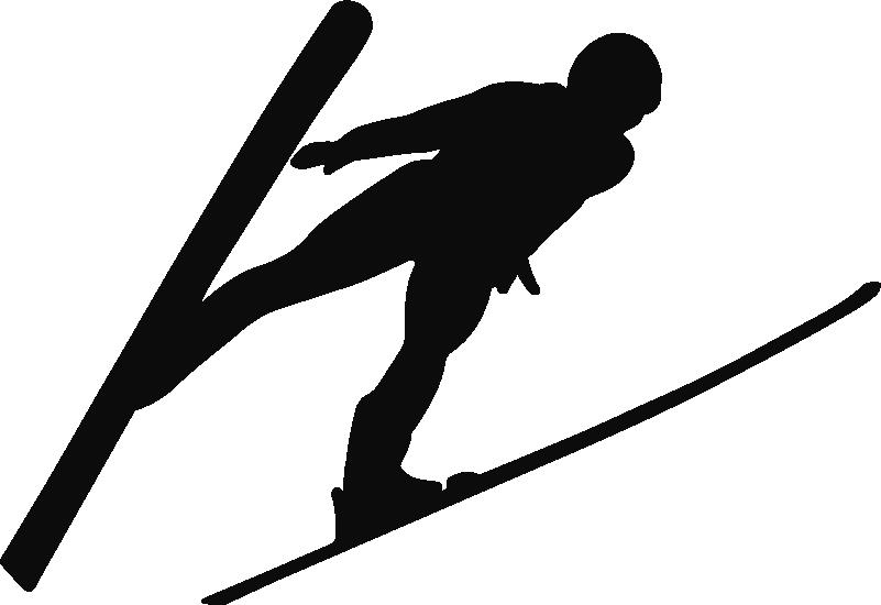 TenStickers. Muurstickers sport Schansspringer. Deze winter muursticker van een  sportieve ski sticker van een schansspringer muursticker. Schansspringen stickers en skien muurstickers zijn uniek!
