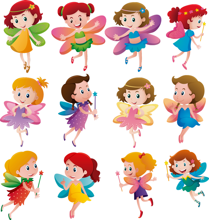 TenStickers. Fairies Sheet Children´s Wall Stickers. Decorate your bedroom with this fantastic wall art sticker, depicting an absolutely magical group of fairies! Available in 50 colours.