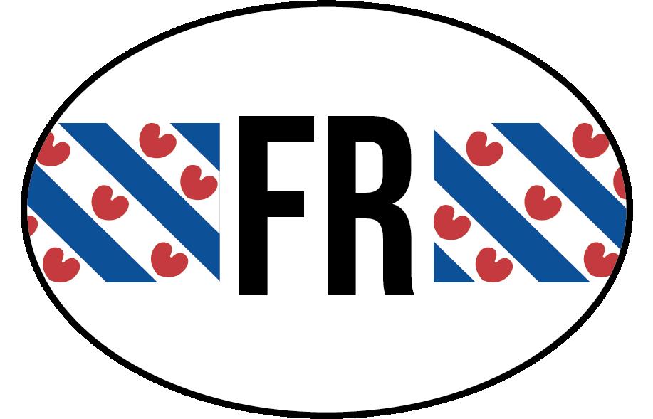 TenStickers. Autostickers Vlag Friesland. Vlag autostickers en Provincie vlag Autostickers  voor auto's ruiten en bumpers: Friesland vlag sticker en Friesland autostickers en friesland sticker.