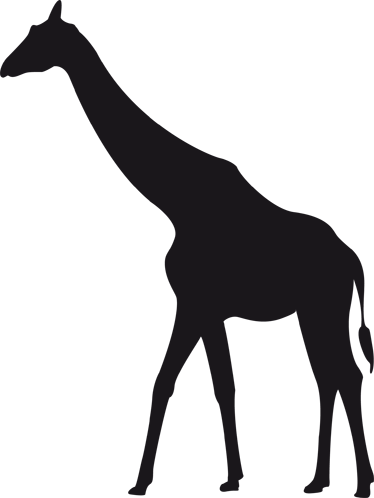 TenStickers. Giraffe Silhouette Blackboard Sticker. A fantastic blackboard decal illustrating a giraffe. If your children love this animal or the wildlife then this giraffe wall sticker is perfect!