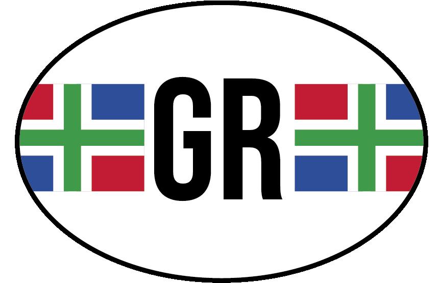 TenStickers. Autostickers vlag Groningen. Provincie vlag Autostickers en autostickers vlaggen voor auto's en ramen: Groningen vlag sticker en Groningen autostickers vlag autostickers!
