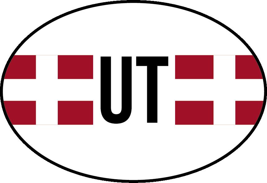 TenStickers. Autostickers vlag utrecht. Provinciale vlag Autostickers en autostickers vlaggen: Utrecht vlag sticker en Utrecht autostickers voor autobumpers stickers en autoraamstickers!
