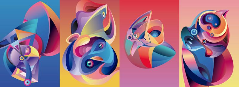 TenStickers. Sticker Mural Animaux Abstraits. Tenté par une frise murale adhésive représentant des animaux au style abstrait ? Nous avons le dessin autocollant mural fait pour vous satisfaire !