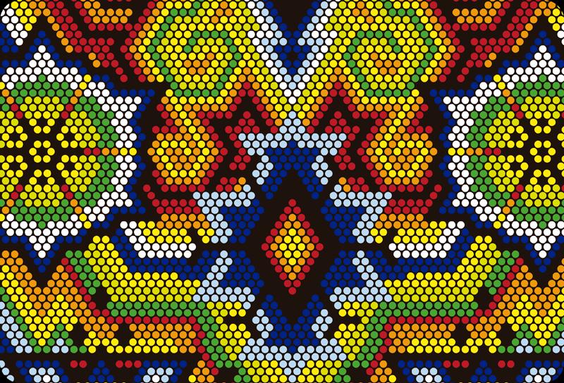 TenStickers. Sticker Ordinateur Portable Art Méxicain. Pour un adhésif original et abstrait pour ordinateur portable, Mac ou tablette, le style art méxicain de cet adhésif décor sera idéal !
