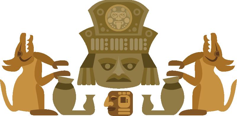 TenVinilo. Vinilo original Figura zapoteca. Original pegatina adhesiva formada por la ilustración de unas figuras típicas de la cultura zapoteca. Descuentos para nuevos usuarios.