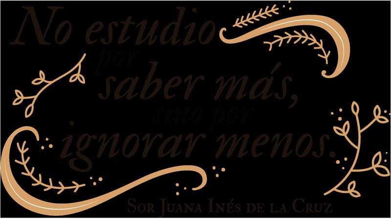 TenVinilo. Vinilo Cita Sor Juana Inés. Original y elegante vinilo adhesivo formado por una frase célebre de la escritora mexicana Sor Juan Inés de la Cruz. Descuentos para nuevos usuarios.