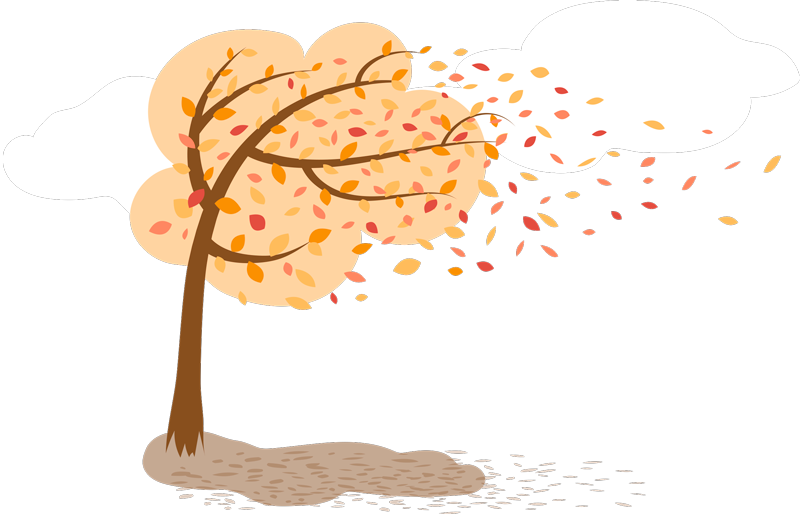 TenStickers. Autumn Drawings Living Room Wall Decor. A home decal ideal for the walls of your living room or your bedroom, to bring a peaceful atmosphere with an autumn landscape.