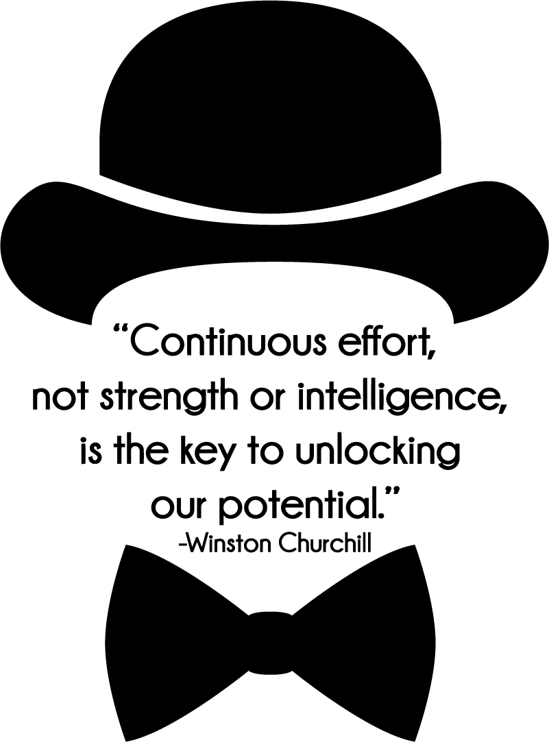 TenStickers. Winston Churchill Effort Living Room Wall Decor. Always remind yourself of the importance of effort with this superb wall quote sticker from Winston Churchill! Extremely long-lasting material.