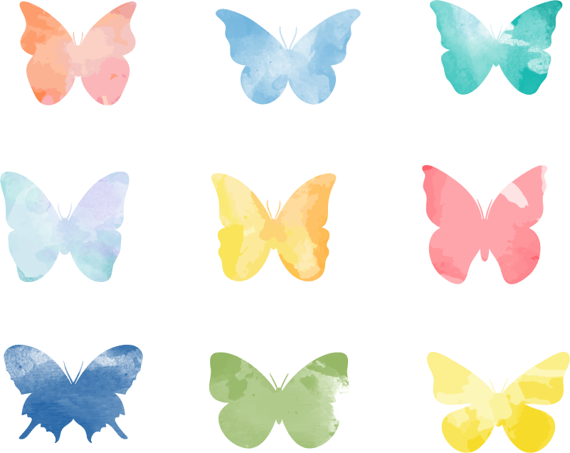TenStickers. Colorful butterflies Living Room Wall Decor. Brilliant butterfly wall decor is a perfect teens room decal. Check our amazing animal wall stickers. Available in 50 colours.