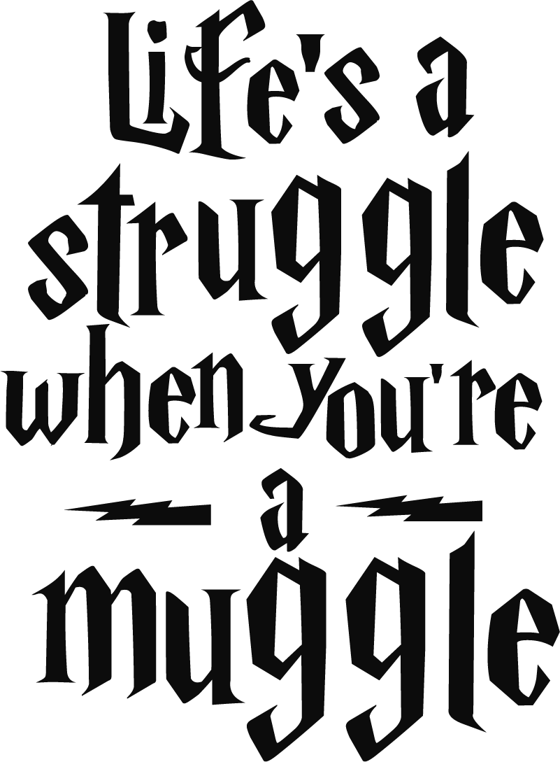 TenStickers. Harry Potter Quote Text Sticker. Show all the struggle of living as a muggle with this fantastic Harry Potter inspired wall quote sticker! Discounts available.
